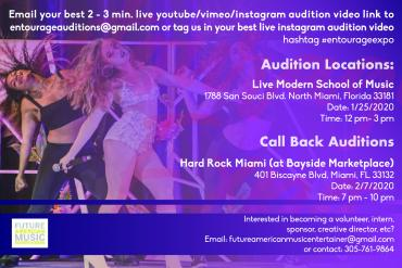 Entourage Expo Season 5 Audition Finals Presented by Future American Music Entertainers