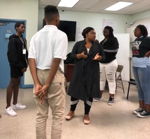 Damaris Obi conducts workshop with AHCAC drama students